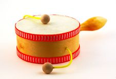 Free Damasa Drum On White Royalty Free Stock Image - 13967256