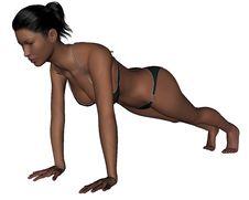 Free Yoga - Plank Pose Stock Photo - 13967400