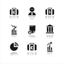 Free Set Of 9 Finance Icons Royalty Free Stock Image - 13967536