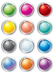 Free Buttons Set Stock Image - 13967901