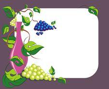 Free Wine Card1 Royalty Free Stock Photos - 13968118