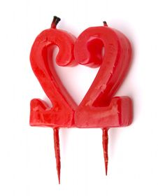 Heart Candle Royalty Free Stock Photos