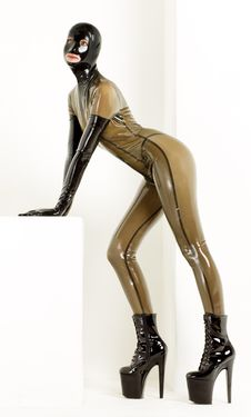 Woman In Latex Royalty Free Stock Photo
