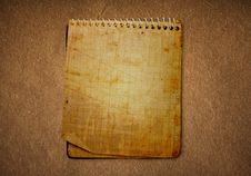 Free Old  Notebook Royalty Free Stock Photography - 13968847