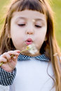 Free Child Blowing Dandelion Royalty Free Stock Images - 13976729
