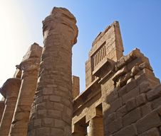 Karnak Temple At Luxor, Egypt Stock Photo
