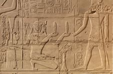 Free Egyptian Script On The Stone In Luxor Stock Images - 13970534