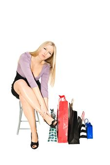 Free Woman Shopper Stock Images - 13970714