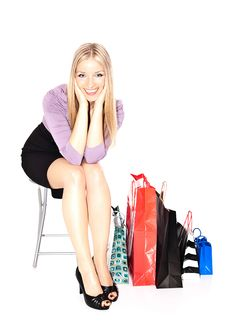 Free Woman Shopper Stock Images - 13970744