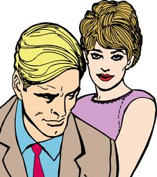 Free Illustration Of Lovers Stock Photo - 13970850