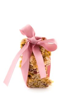 Free Muesli Bar With Pink Bow Royalty Free Stock Photo - 13971055