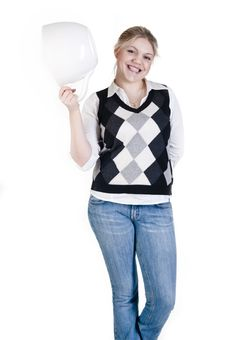 Free Young Attractive Blond Woman With A Big Cup Stock Photography - 13971462