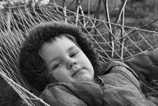 Free Kid In Hammock Stock Images - 13971824