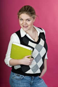 Blond Young Woman Stock Photography
