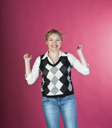 Free Woman With Happy Smiling Facial Expression Stock Photos - 13972003
