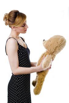 Free With Teddy-bear Stock Photos - 13972063