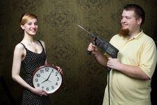 New Big Clock Royalty Free Stock Photos