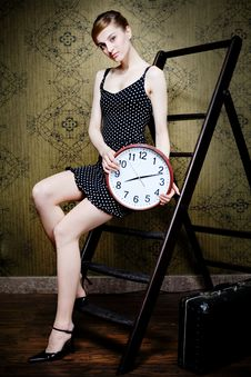 Free Woman And Time Royalty Free Stock Image - 13972216