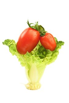 Free Tomatoes And Cabbage Royalty Free Stock Images - 13973239