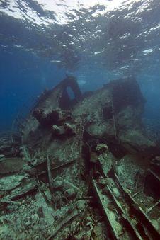 Free Wreck Freighter Kormoran - Sank In 1984 Tiran Stock Image - 13973311