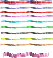 Free 3d Ribbons On White Royalty Free Stock Photos - 13973388
