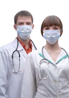Free Portrait Of Two Doctors Stock Photography - 13973662