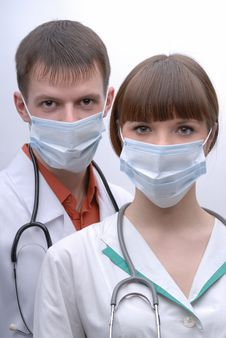 Portrait Of Two Doctors Stock Images