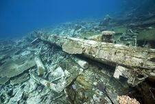 Free Wreck Freighter Kormoran - Sank In 1984 Tiran Stock Photos - 13973733