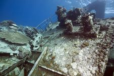 Free Wreck Freighter Kormoran - Sank In 1984 Tiran Royalty Free Stock Photography - 13973767