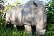 Rhinoceros Figure Stock Photo