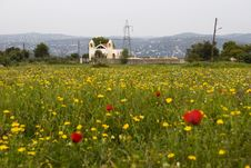 Free Church In A Meadow Stock Photography - 13973972