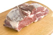 Meat On The Board Stock Photography