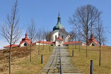 Free Pilgrimage Church Of St. John Nepomuk,Czech Republ Royalty Free Stock Image - 13974456