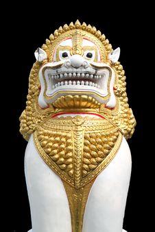 Golden Lion Statuary Royalty Free Stock Photos