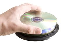 Free CDs In His Hand Stock Images - 13974684