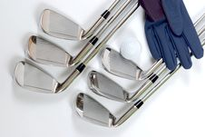 Free Golg Clubs With Glove Royalty Free Stock Images - 13975099