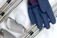 Free Golg Clubs With Glove Stock Photography - 13975122