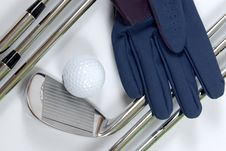 Free Golg Clubs With Glove Royalty Free Stock Photo - 13975135