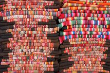 Free Bolivian Blankets Royalty Free Stock Photo - 13976425