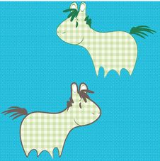 Free Patchwork Ponies Stock Images - 13977214