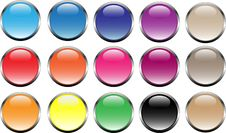 Free Buttons In Web2.0 Style Royalty Free Stock Images - 13977299