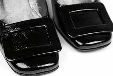 Free Black Female Shoes Royalty Free Stock Image - 13978386