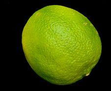 Free Lime Isolated On Black. Stock Photos - 13978403
