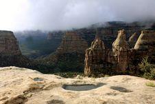 Free Monument Canyon Fog Royalty Free Stock Photo - 13978465