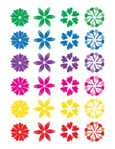 Free Beautiful And Colorful Abstract Flowers 1 Stock Photos - 13979863
