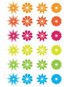 Free Beautiful And Colorful Abstract Flowers Royalty Free Stock Photo - 13979865