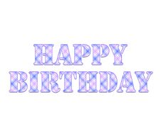 Happy Birthday Colorful Square Pattern Illustration Royalty Free Stock Photo