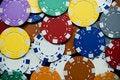 Free Poker Chips Royalty Free Stock Photo - 13986745