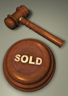 Free Gavel With Sold Royalty Free Stock Images - 13980229