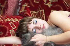 Free Sleeping Woman Royalty Free Stock Image - 13980296